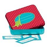 Avenue Mandarine - 52589O - Jeu éducatif - Alphabet, Boîte à Bons Points Dinosaure Bleu et Rouges