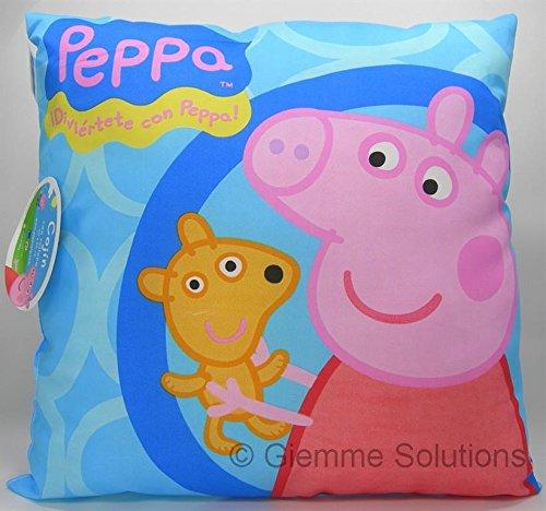 Cuscino george pig - originale peppa pig - 40x40 cm