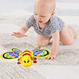 Kiddale Beautiful Battery Operated Musical Crawling Bee With Flashing Lights, Sweet Lullaby, Non-Toxic- A Fun Musical Educational Toy For Kids(6 Month To 2 Years), Toddler And Babies