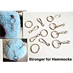 10pcs+ 32mm Spring Clips Hooks with hoop for Rat Hammock Bird Cage Happy Hut Toy (10 pcs no hoop) 6