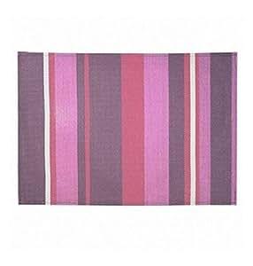 D10 - Set de table PVC rayé violet - prune