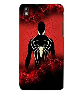 PrintDhaba Spider D-2606 Back Case Cover for HTC DESIRE 816 (Multi-Coloured)