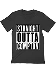 N.W.A. Straight Outta Compton Movie Logo Men's V-Neck T-Shirt