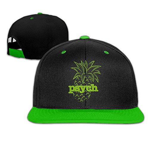 fboylovefor Psych Pineapple Unisex Hip Hop Flat Bill Snapback Caps Plain Cotton Baseball Cap for Girls
