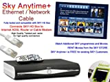 PCSL Brand - SKY Anytime / Anytime Plus + Ethernet / Network Cable ~ Connects SKY HD Satelite Box to Internet ADSL Router or Cable Modem, watch additional programmes and movies and also access the SKY STORE on your SKY HD Box. (1m)