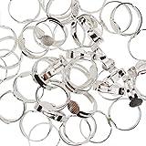 Kurtzy Anillosajustables Set Base Anillos Metal 80 PiezasAjustables Ideal Para HacerJoyasBricolaje, joyas para mujer, AnillosPersonalizados - Ajustable para Hombres, Mujeres y Niños