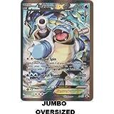 Pokemon Card Blastoise EX XY122 OVERSIZED JUMBO CARD.