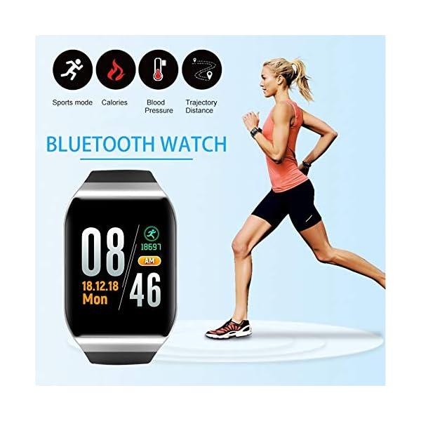 awhao-123 KY117 Smart Wristband Fitness Tracker IP68 Frecuencia cardíaca a prueba de agua Modo deportivo multifuncional Pantalla táctil a todo color Pulsera de fitness Monitor de presión top sale 1