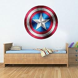 Gizmoz n Gadgetz GNG capitán América escudo superhéroe niño niño niña maravilla vengador sticker decoratif mural art sticker 58cm