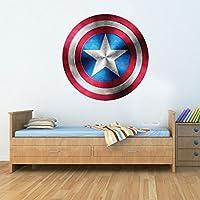 Gizmoz n Gadgetz GNG capitán América escudo superhéroe niño niño niña maravilla vengador sticker decoratif mural art sticker 42cm