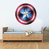 GNG Kapitän Amerika Schild Superheld Kinder Junge MädChen Wunder Rächer Aufkleber decoratif Wandbild Kunst Aufkleber 58cm
