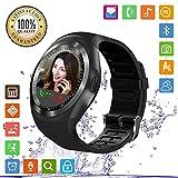 FENHOO Smartwatch SN05 Rotondo Smart Watch con slot per scheda SIM, Touch Screen Contapassi Musica Compatibile con Samsung Huawei Xiaomi Telefoni Android iOS iPhone per Uomo Donna Bambini (Nero)