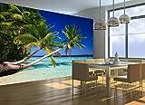 Fototapete STRAND PALMEN OZEAN MEER Nr.8T-165 Aufkleber Bildtapete Poster Wandbild ocean palms beach sea wallpaper wall mural