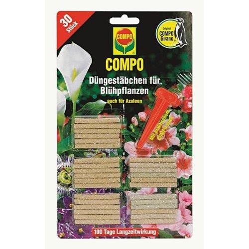 Compo 1206302004 Düngestäbchen für Blühpflanzen, 30 Stück