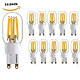 Century Light - 10pcs Non Dimmable 2700K( Warm White) Bi Pin G9 LED Filament Bulb - Equivalent to 20 Watt LED Sport Light