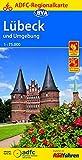 ADFC-Regionalkarte Lübeck und Umgebung, 1:75.000, reiß- und wetterfest, GPS-Tracks Download (ADFC-Regionalkarte 1:75000) -