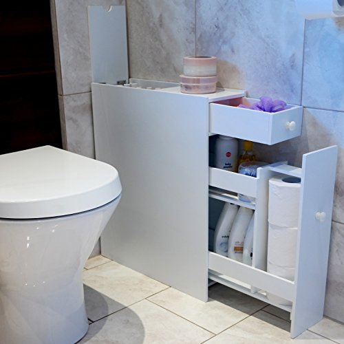 Buy marko slimline organiser bathroom cupboard cabinet for Slimline bathroom cabinet