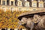 Brian Jannsen / DanitaDelimont – Lion Heads Fountain in Paris France Photo Print (71,32 x 47,55 cm)