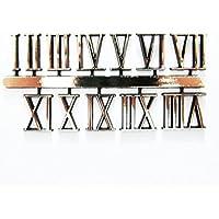 Selbstklebend Gold Kunststoff römischen Uhr Zahlen/Ziffern–18mm–Uhr macht