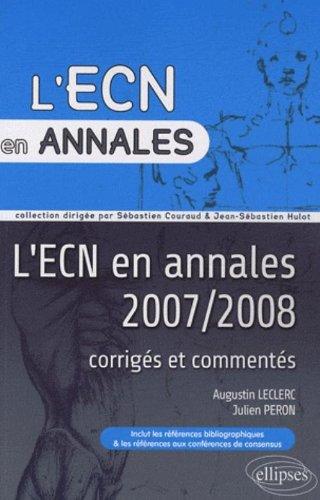 L'ECN en annales 2007 & 2008