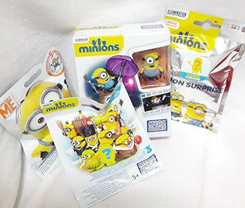110029 Minion Surprise Geschenk Set und als Geschenk verpackt, Minion Mega Bloks Blind Bag, Überraschungstüte, Bausatz, Tattoo und Candy
