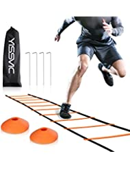YISSVIC Agility Ladder Speed Ladder 6M 12-Rung with 10 Cones and 4 Stakes