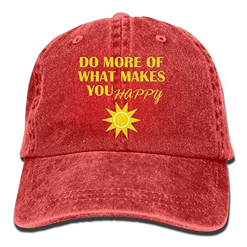 7bfa7aad5c787 Presock Cappellini da Baseball Happiness Quote Adult Cowboy Hat Baseball cap  Adjustable Athletic Make Custom New