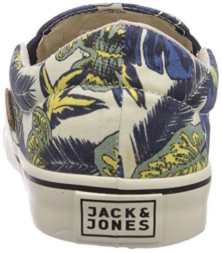 Jack & Jones Jjsurf Flower Canvas Loafer Mood Indigo, Baskets Basses Homme Multicolore - Mehrfarbig (Mood Indigo)