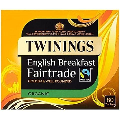 Twinings Bustine Di Tè Fairtrade Colazione Organici 80 Per Confezione (Confezione da 2) - Twinings Colazione Tè