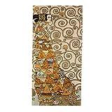 Artis Vivendi Wandteppich Gobelin Teppich Gustav Klimt Die Erwartung Heller Kleiner Teppich handgenäht