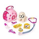 SainSmart Jr. Arztkoffer Tierarztkoffer mit Hund Doktorkoffer Kinder Rollenspiele Kindergeburtstag Spielzeug Pretend Play für Kinder