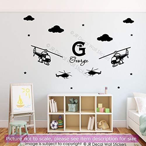 daufkleber Name Ihres Kindes Monogramm Wandtattoos Jungen Room Art abnehmbare Vinyl Wandtattoos ()