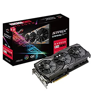 ASUS ROG-STRIX-RX580-8GB-GAMING Graphics Card (Radeon OC, GDDR5 DP/HDMI/DVI-D) - Black