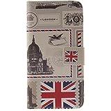 Owbb Londres enveloppe jaunâtre Flip Housse Étui pour Samsung Galaxy A3 (2016) A310 Smartphone Coque de protection en PU cuir
