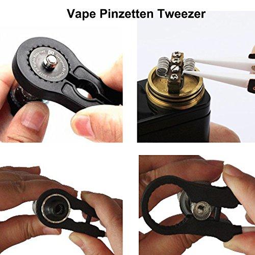 EOSVAP Vape Tweezers verdampfer Clearomizer Pinzette Zange Multifunktionstool für Verdampfer/verdampferköpfe von e-Zigaretten, in Schwarz ohne nikotin
