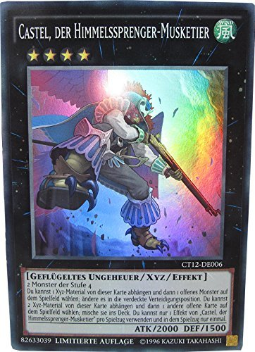 Preisvergleich Produktbild CT12-DE006 Castel, der Himmelssprenger-Musketier + YGO Card Sleeve (0006)