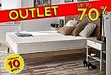Naturalex - Matelas Deluxe 140 x 190 cm à mémoire de forme VISCOTEX® haute résilience 20 cm,à 7 zones de confort, Ferme