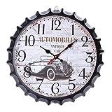 Babysbreath17 Botella 34cm Cerveza Soda Cap Reloj de Pared de Metal de Estilo Europeo Inicio Restaurante Bar Cafetería decoración del Reloj #2