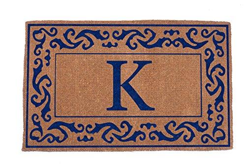 Coco Matten N More rs1830bl-m-k Monogramm (K) Bordüre Fußmatten, 45,7x 76,2cm natur