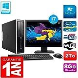 HP PC Compaq Pro 6300 SFF I7-3770 8Go 2To Graveur DVD WiFi W7 Ecran 17'