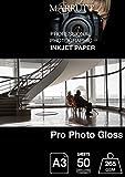 marrutt 265GSM Pro Foto glänzend Papier, A3, 50Blatt