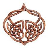 windalf–cuadro de madera de inala H: 23cm celta amor nodos Corazón Decoración Hecho A Mano De Madera