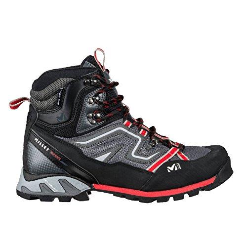 MILLET High Route Mesh, Chaussures de Randonnée Hautes Homme Grey / Red