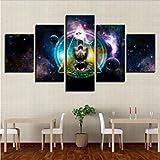 Zorong 5 piezas lienzo pintura cuadros OM Yoga símbolo moderno arte de la pared lienzo...