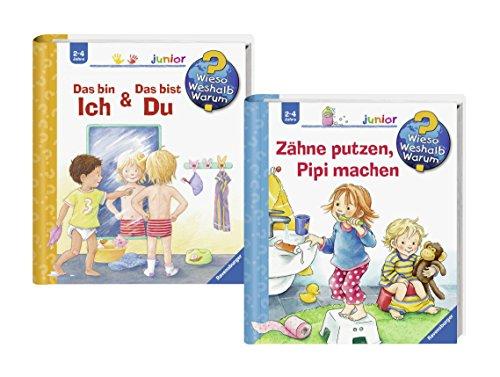 Ravensburger Junior Bücher Set - Wieso? Weshalb? Warum? Zähne putzen, Pipi machen und Das bin ich & Das bist du (Klappe Waschen)