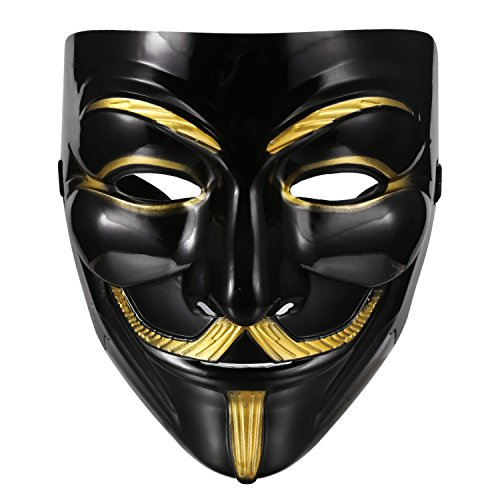 V Anonymous Kostüm Vendetta For (Vendetta Maske, zearo Guy Fawkes Anonymous Halloween Cosplay Kostüm V wie Vendetta)