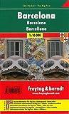 Barcelona City Pocket, plano callejero de bolsillo, plastificado. Escala 1:10.000. Freytag & Berndt.: Stadskaart 1:10 000