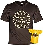 Veri  T-Shirt Set Geschenk Idee zum 40 Geburtstag mit Flaschenshirt seit 1978 Original Gr. L in braun :