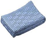 Sonnenstrick 610563326976 Babydecke / Kuscheldecke / Strickdecke, aus 100 % Bio Baumwolle kba, 80 x 90 cm, hellblau