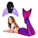 SUN TAILS Premium Meerjungfrauen Flossen Set zum Schwimmen Kostüm Bali Blush Monoflosse Keiki Kinder Nunui Erwachsene XL Lavender